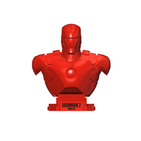 Small MARK IV BUST - IRONMAN 2 3D Printing 114939