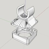 Small E3D-V6 cooling fan holder 3D Printing 115041