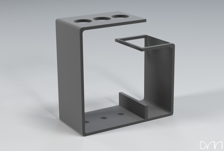Modern Toothbrush Holder 3D Print 115095