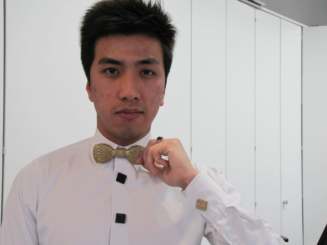 3D Printed Bow Tie and Button Cover 3D Print 11517