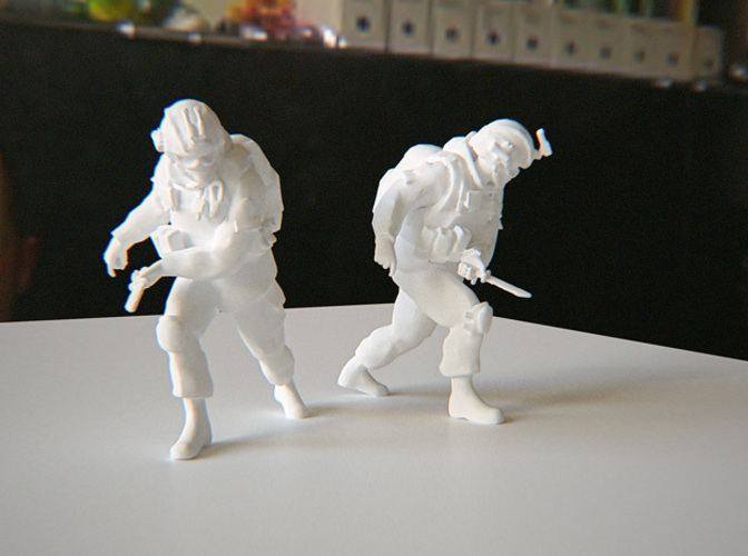 Modern Soldier with Knife 3D Print 115185