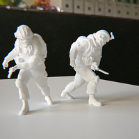 Small Modern Soldier with Knife 3D Printing 115185
