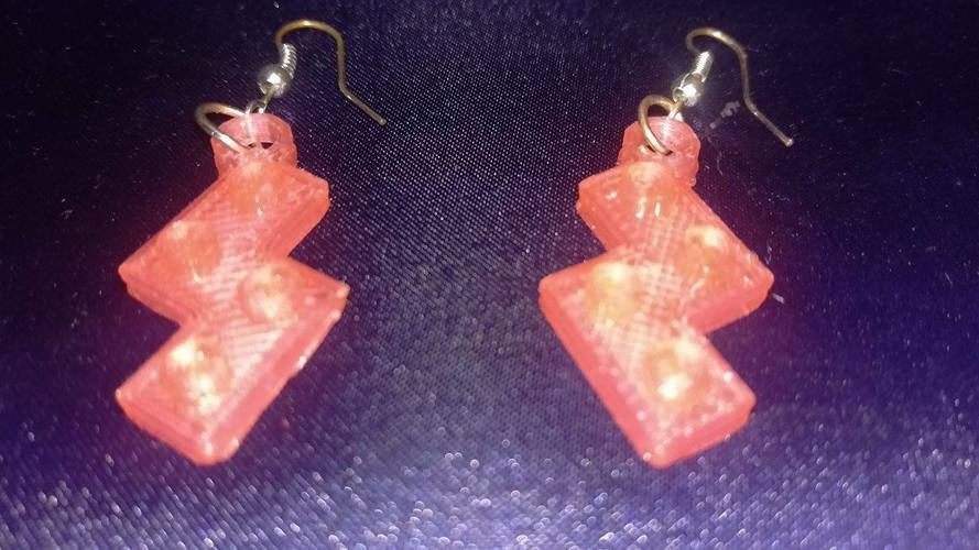 Lego S Earrings 3D Print 115270