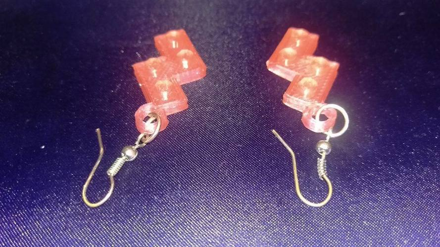 Lego S Earrings 3D Print 115272