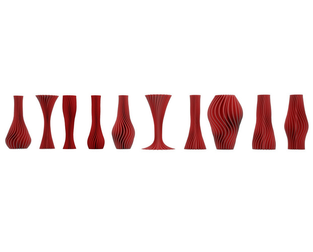 10 twisted vases  3D Print 115331