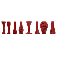 Small 10 twisted vases  3D Printing 115331