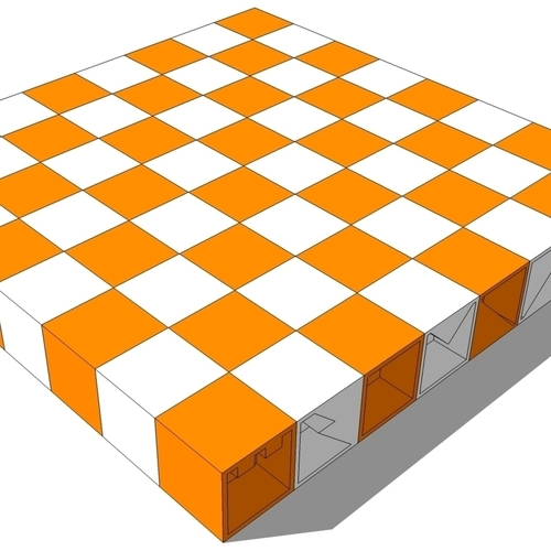folding chess set 3D Print 115357