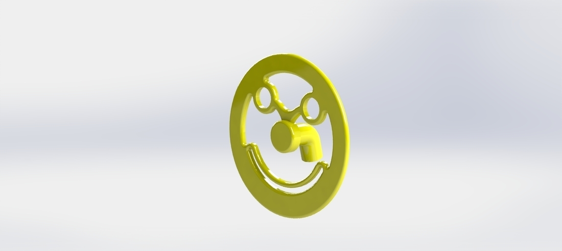 Smiley for decoration 3D Print 115391
