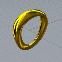 Small Ring Moebius 3D Printing 115468