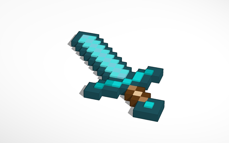 Minecraft Diamond Sword 3D Print 115471