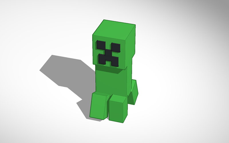 Minecraft Creeper 3D Prototype (Walking) 3D Print 115472
