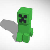 Small Minecraft Creeper 3D Prototype (Walking) 3D Printing 115472