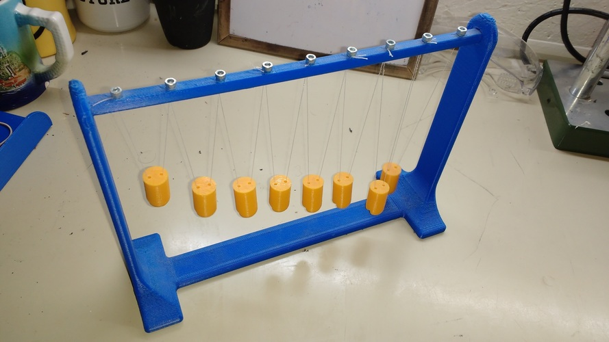 Pendulum Wave: Relating Wavelength to Frequency 3D Print 115500