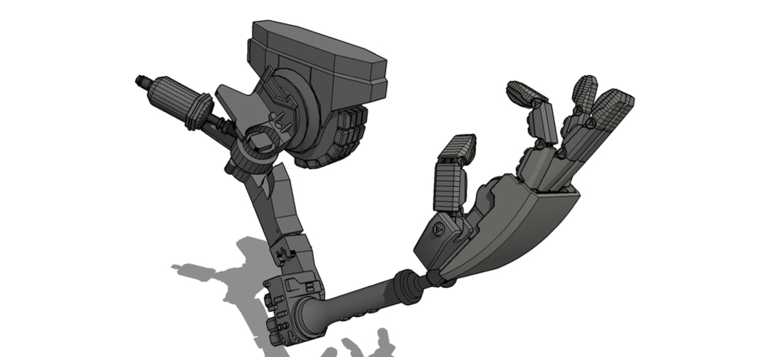mech 01 right arm 3D Print 115601