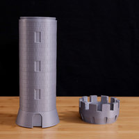 Small Tower Castle Storage 3D Printing 115682