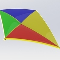 Small Kite for indoor use 3D Printing 115693