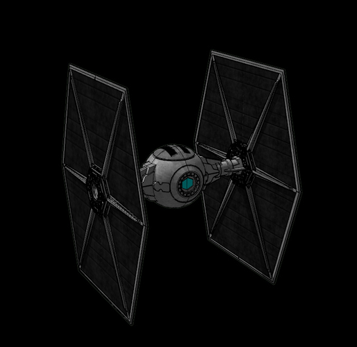 Imperial TIE Fighter - Star Wars 3D Print 115720