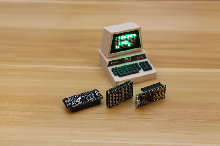 Mini Commodore PET with Charlieplexed LED Matrix 3D Print 115770