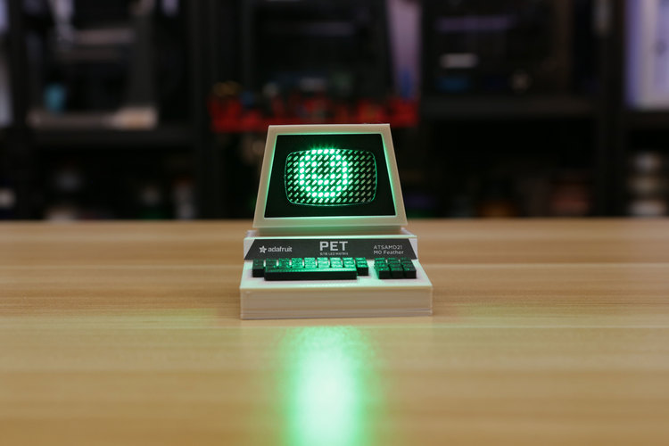 Mini Commodore PET with Charlieplexed LED Matrix 3D Print 115771