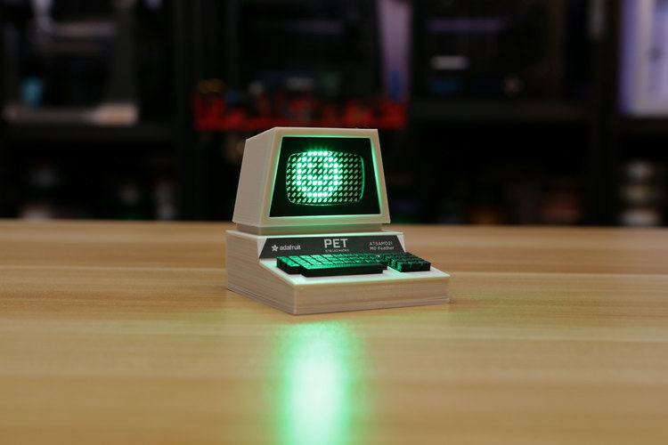 Mini Commodore PET with Charlieplexed LED Matrix 3D Print 115772