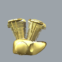 Small Pendant Harley Engine 3D Printing 115800