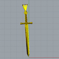 Small Pendant Excalibur 3D Printing 115809