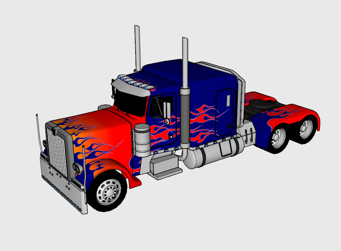 3D Printed Optimus Prime & Truck - Transformers by Gnarly ...