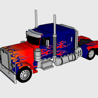Small Optimus Prime & Truck - Transformers 3D Printing 115921
