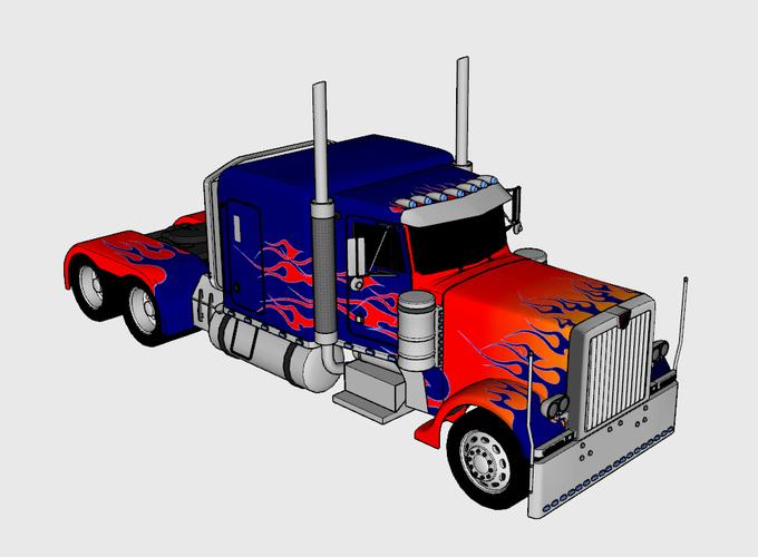 Optimus Prime & Truck - Transformers