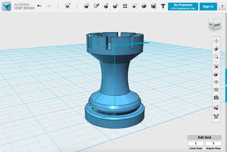 Your First Print: Designing and Printing a Rook 3D Print 115969