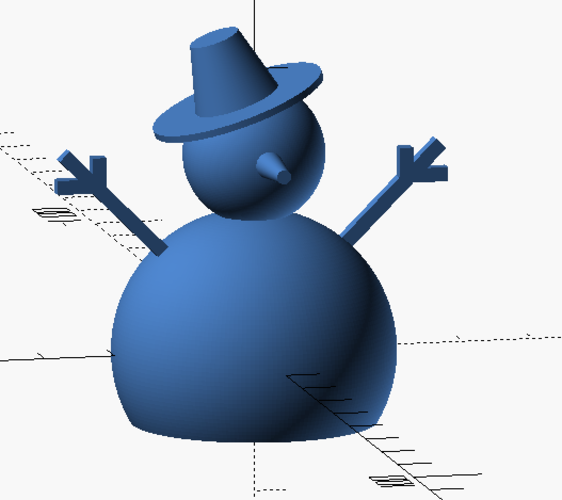 Snowman with OpenSCAD 3D Print 115985