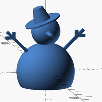 Small Snowman with OpenSCAD 3D Printing 115985