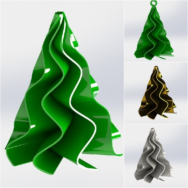 Medium Christmas tree 3D Printing 115987