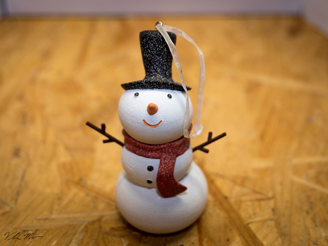 Snowman Christmas Ornament 3D Print 115997