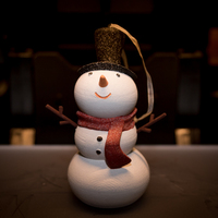 Small Snowman Christmas Ornament 3D Printing 115998