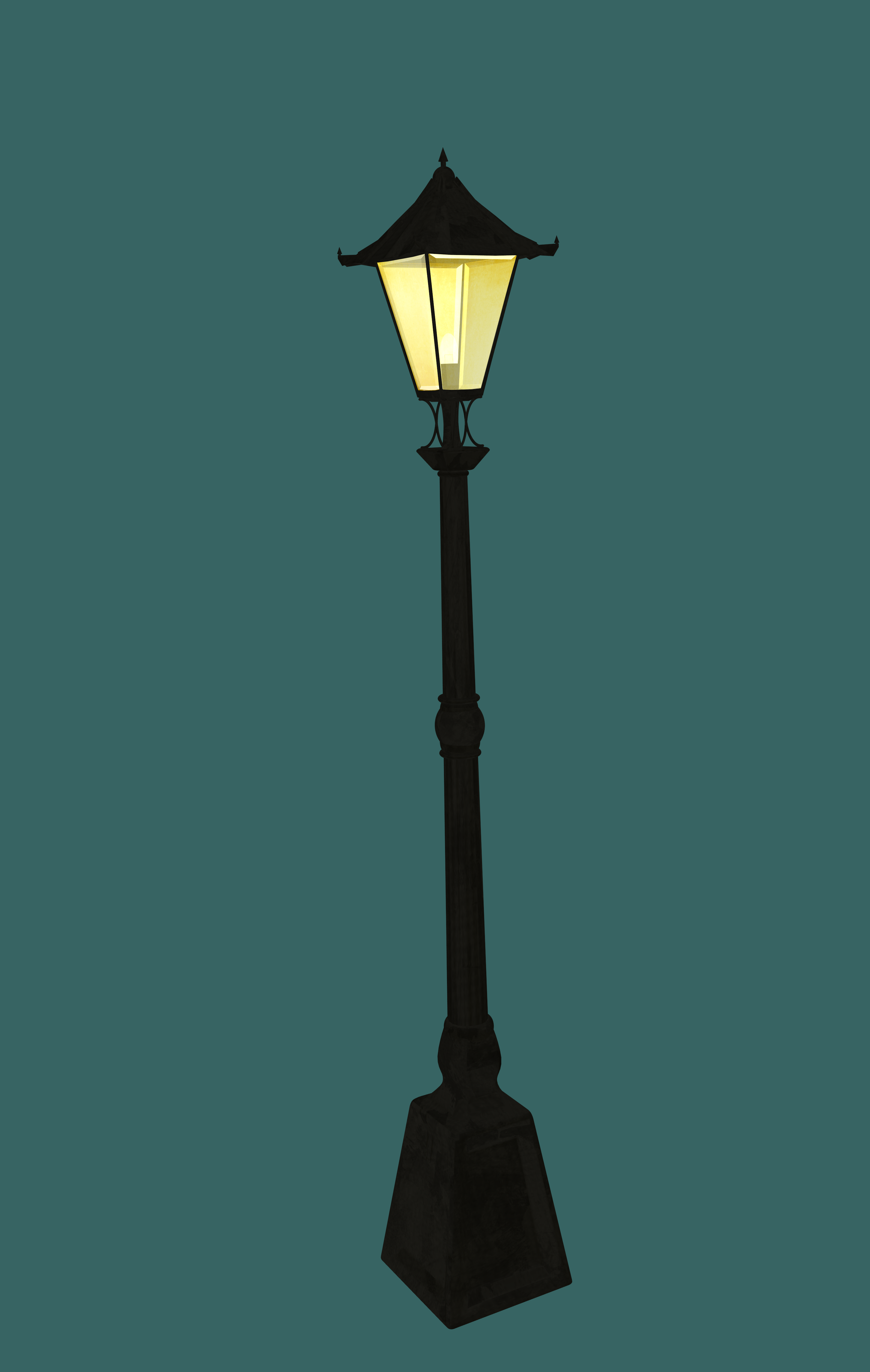 3D Printed Old Street Lamp (High Detail) by Geiger | Pinshape for Png Street Lamp  75sfw