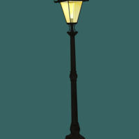 Small Old Street Lamp (High Detail) 3D Printing 116001