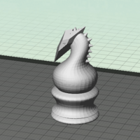 Small Chess Knight 3D Printing 116024