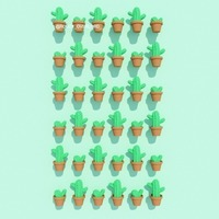 Small Potted Cactus 3D Printing 116077