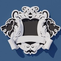 Small Family Crest 3D Printing 116093