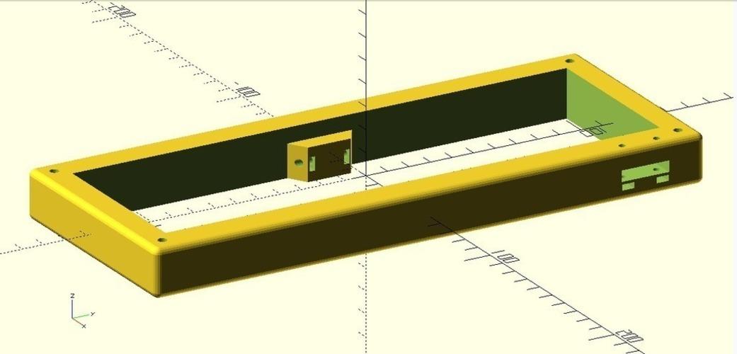3D Printed JD40 Mechanical Keyboard Case by Evam ɐɯɹɐɥS