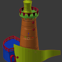 Small Lighthouse Cartagena Colombia 3D Printing 116108