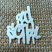 Small Old School Graffiti Paint Style Lettering 3D Printing 116137