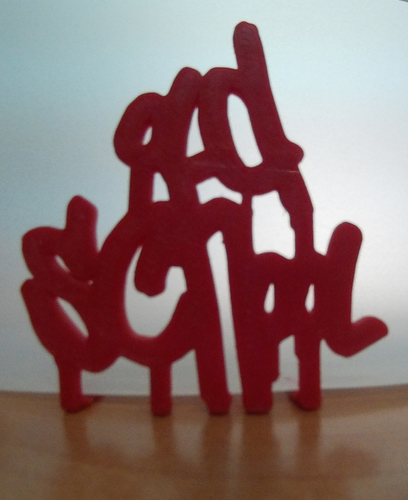 Old School Graffiti Paint Style Lettering 3D Print 116138