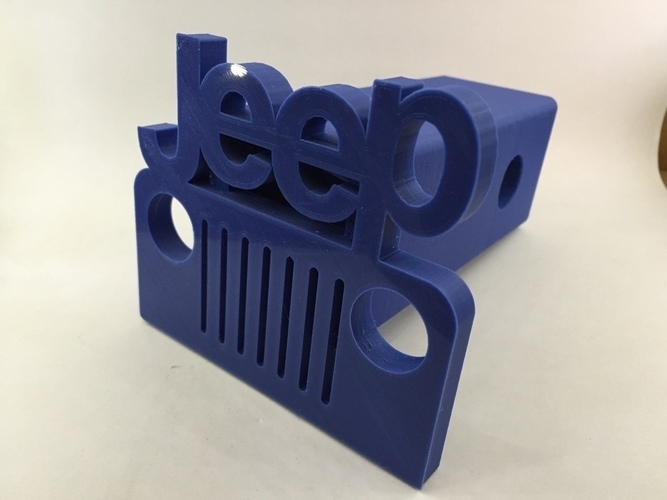Jeep Hitch Cover - Fixed 3D Print 116372