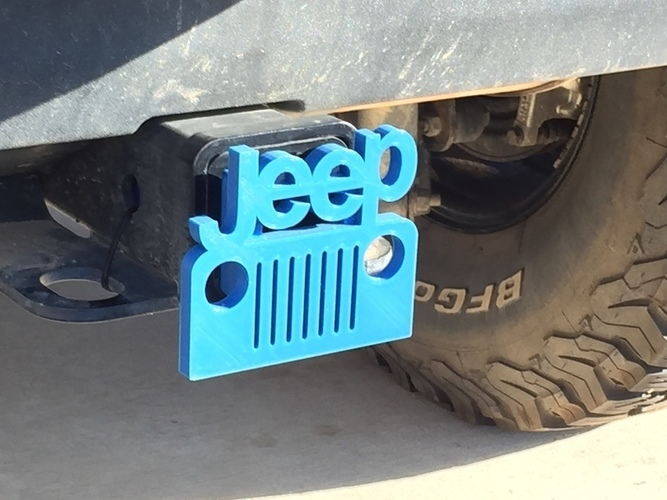 Jeep Hitch Cover - Fixed 3D Print 116373