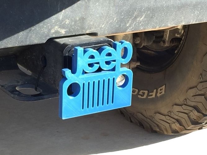 Jeep Hitch Cover - Fixed 3D Print 116374