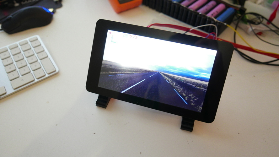 Raspberry Pi 7 inch LCD stand 3D Print 116417
