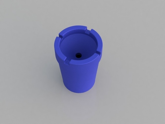 Portable Odorless Beach/Travel Ashtray 3D Print 116443