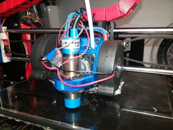 3D Printed E3D Chimera mount Prusa i3 by Domenic Laurin | Pinshape